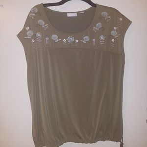 New York & Company Olive color blouse - XL